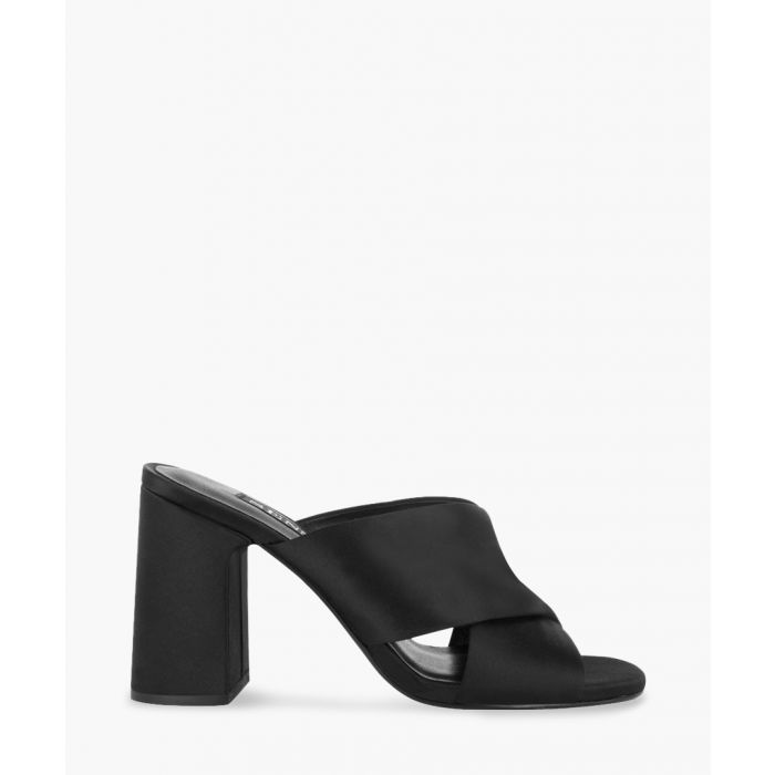 Image for Marley black leather mules