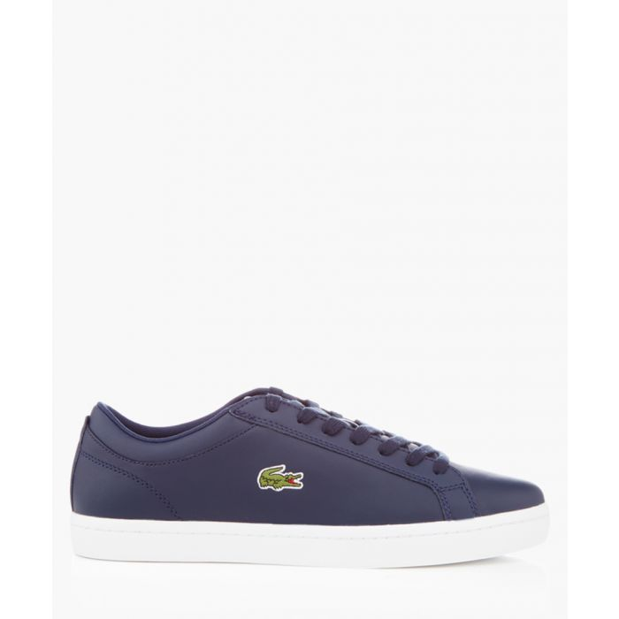 Image for Straightset navy leather trainers