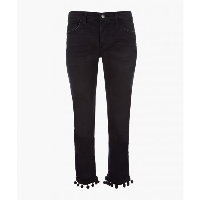 Image for The Cropped Straight cotton pompom jeans