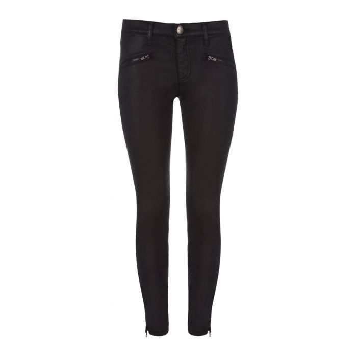Image for The Soho coated cotton skinny jeans