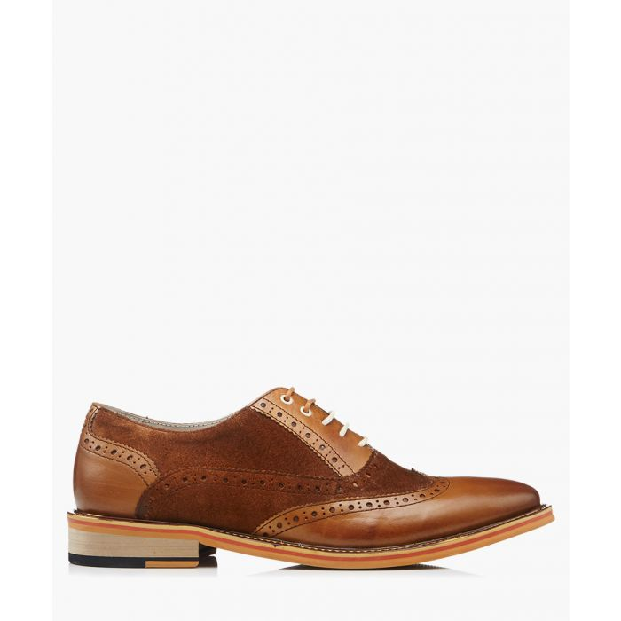Image for Quentin brown suede & leather brogues
