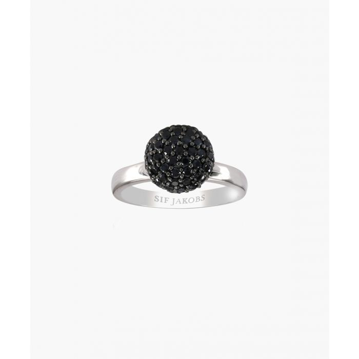 Image for Bobbio black zirconia ring