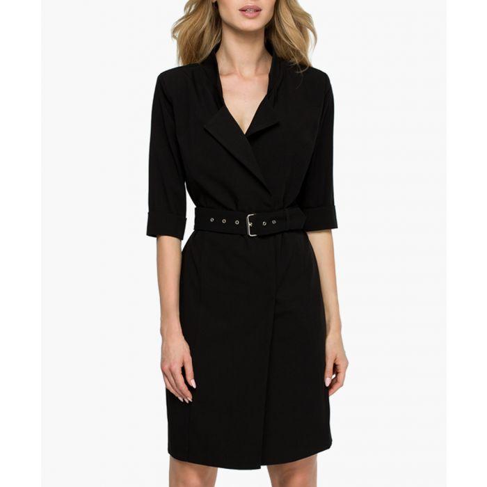 Image for Black belted mini dress