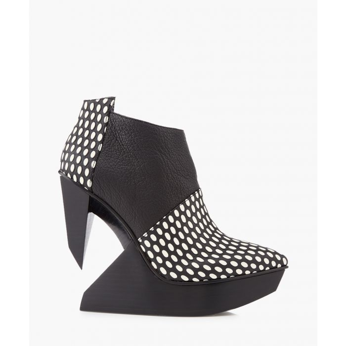 Image for Edge monochrome leather polka boots