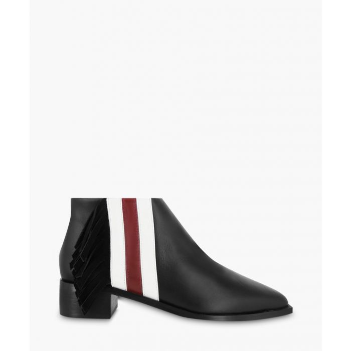 Image for Lawrence black leather stripe boots