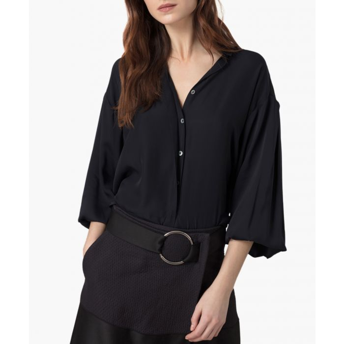 Image for Midnight pure silk georgette blouse