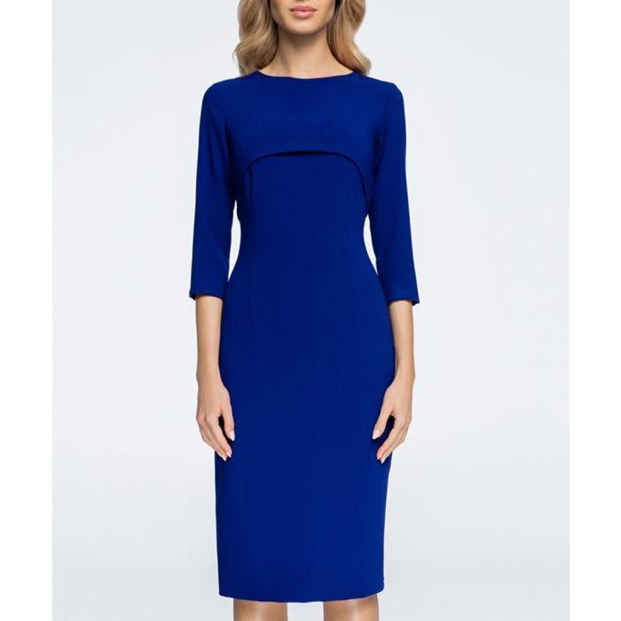 Image for Royal blue midi bodycon dress
