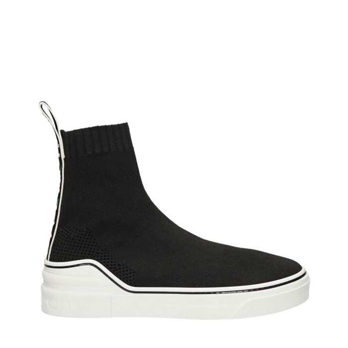 Image for Black leather lined slip trainers