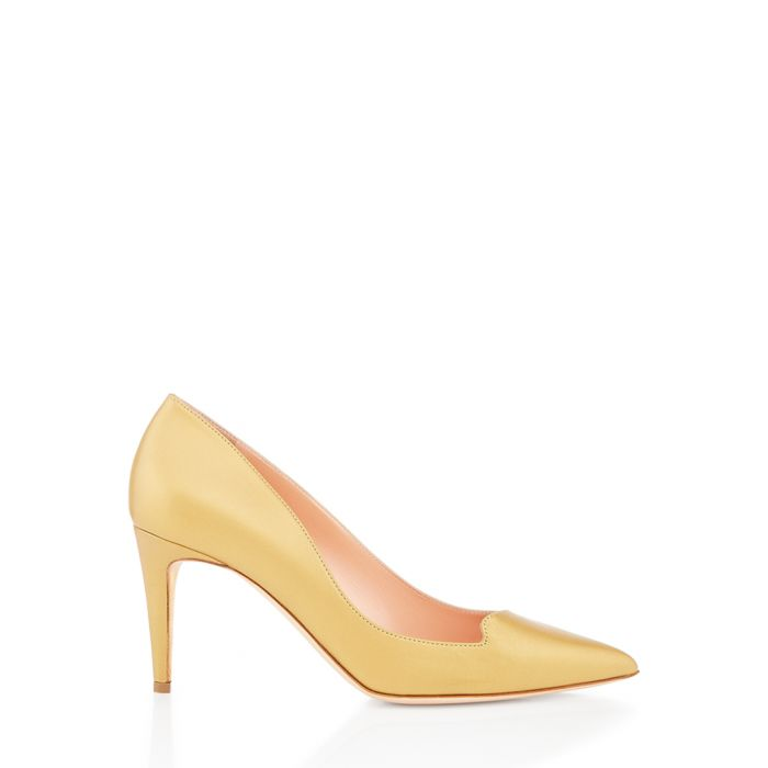 Image for Murcia gold-tone nappa court heels