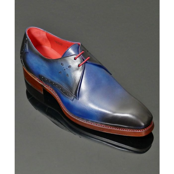 Image for Mancha blue shadow leather shoes