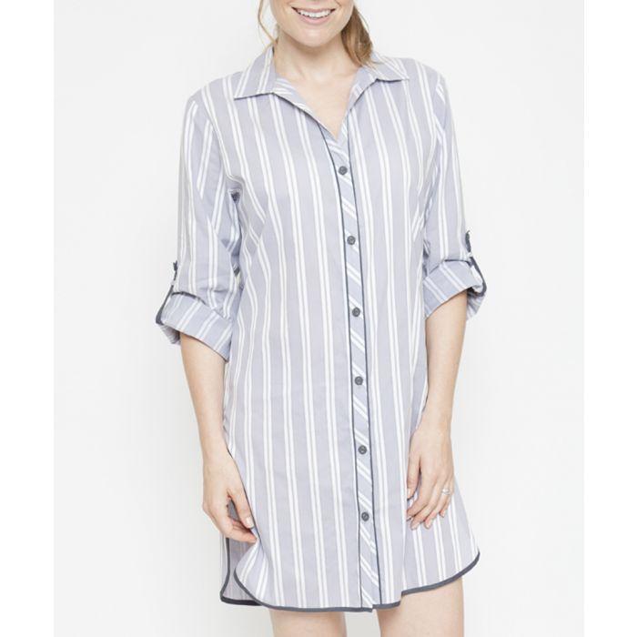 Image for Aspen grey striped shirt dress