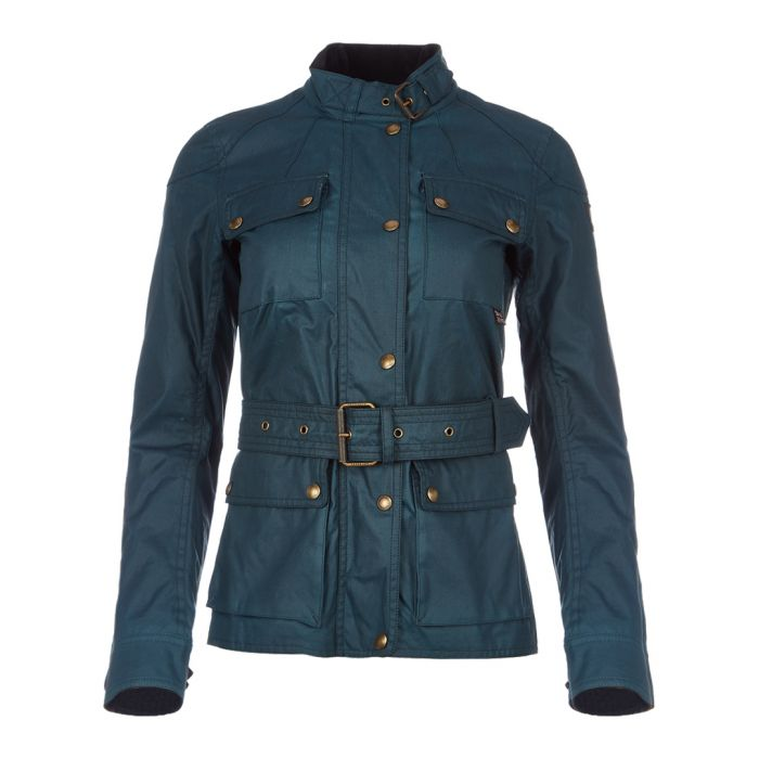 Image for Roadmaster 2.0 teal waxed cotton jacket