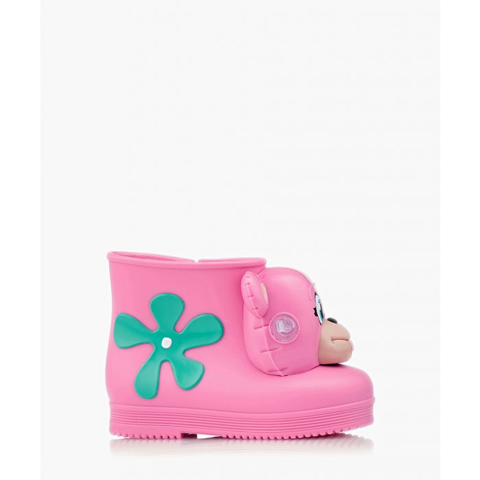 Image for Girls Monkey pink and aqua green boots