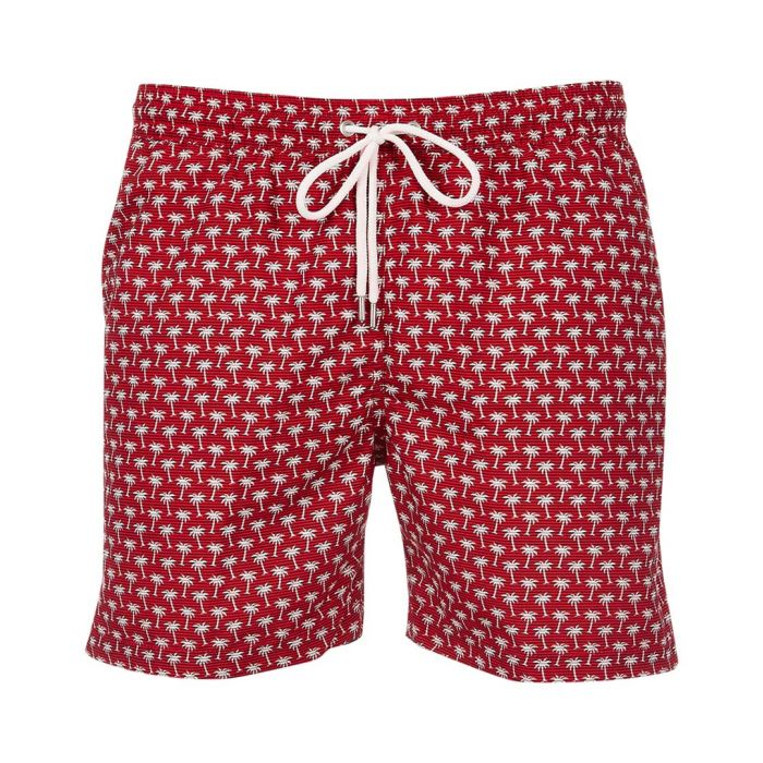 Image for Hublot red printed swimming shorts