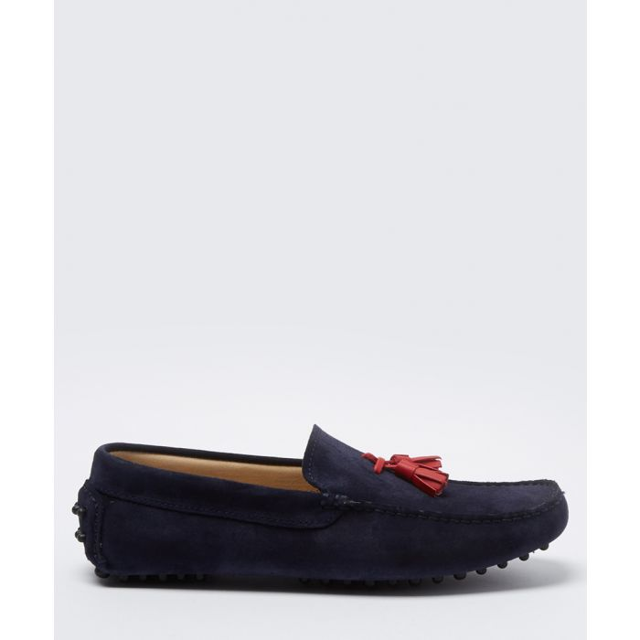 Image for Velazques navy & red suede loafers