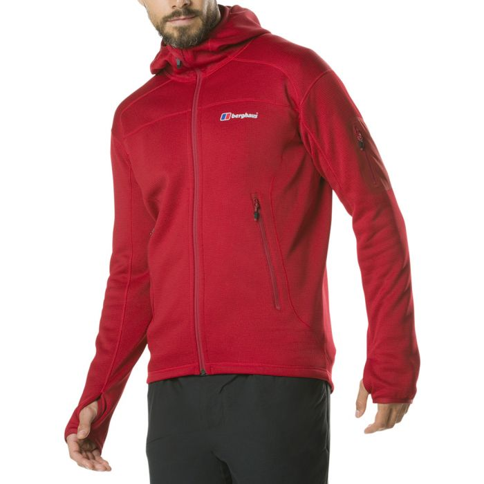 Image for Red zip-up hooded coat