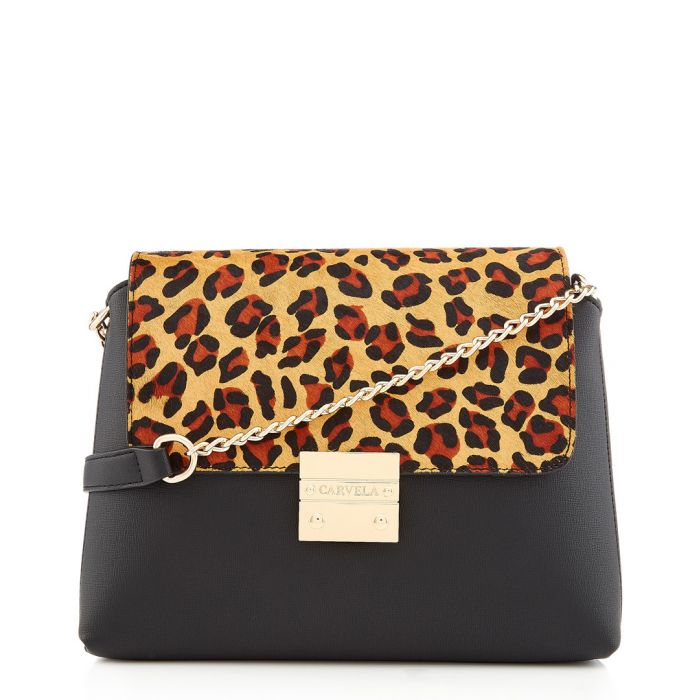 Image for Blink black leopard print crossbody