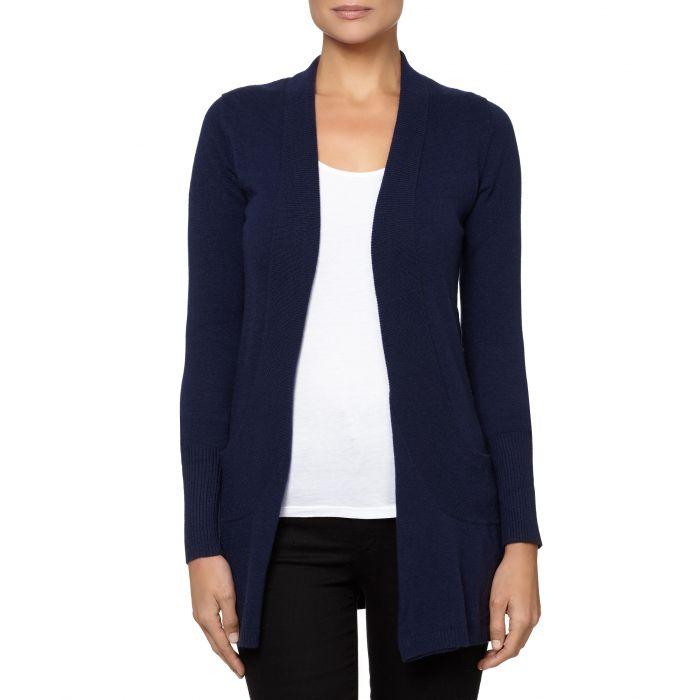 Image for Navy cashmere blend open cardigan
