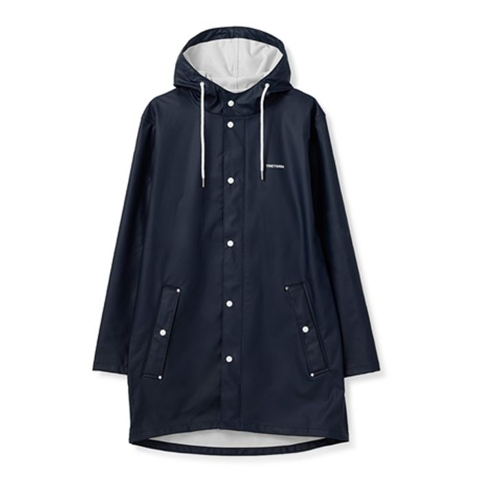 Image for Navy button-up weatherproof coat
