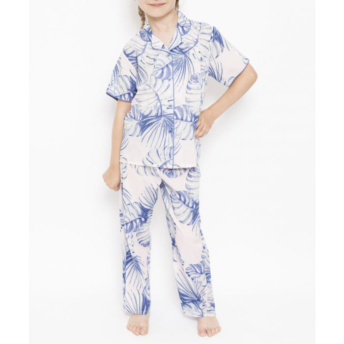 Image for isla minjammies girls woven palm print pj set