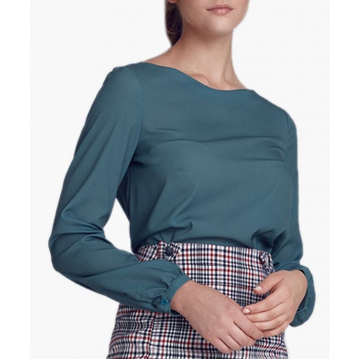 Image for Green long sleeve blouse