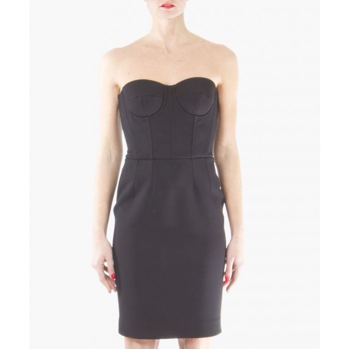 Image for Black strapless dress