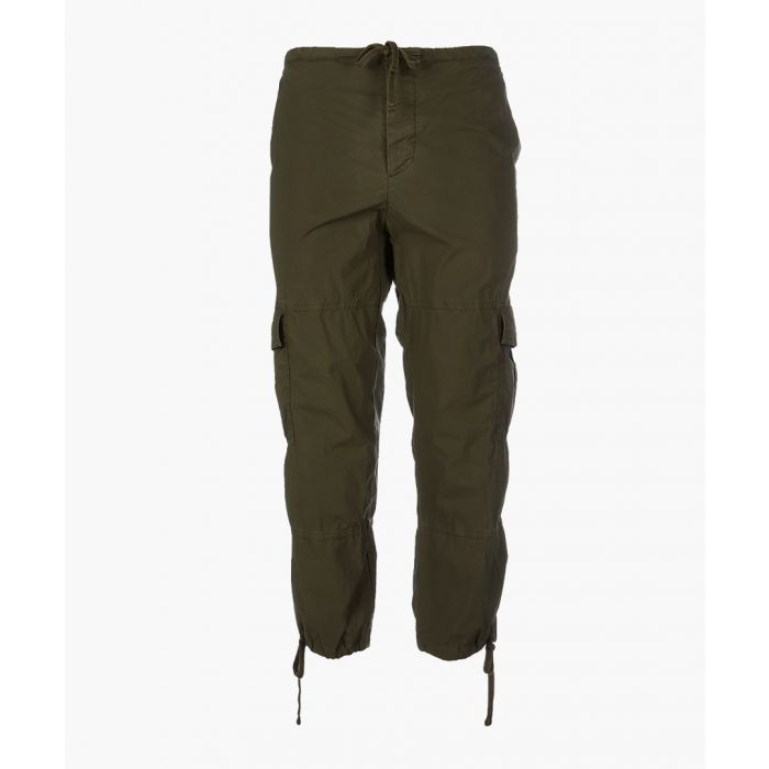 Image for olive cotton cargo trousers
