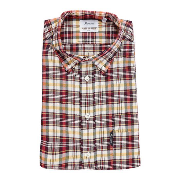 Image for Club bordeaux check button-down shirt
