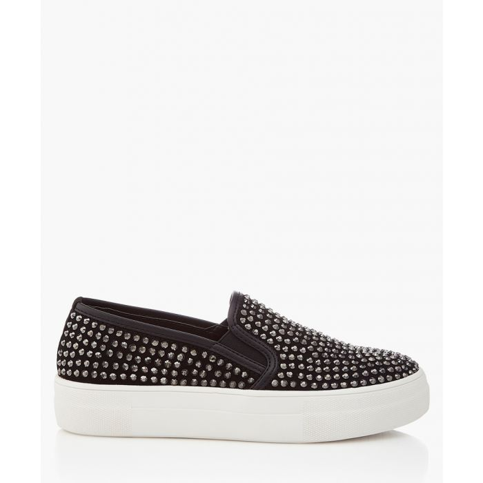 Image for Black studded slip-ons