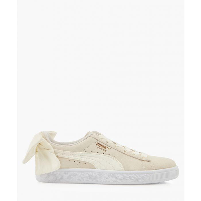 Image for Bow chalk suede trainers