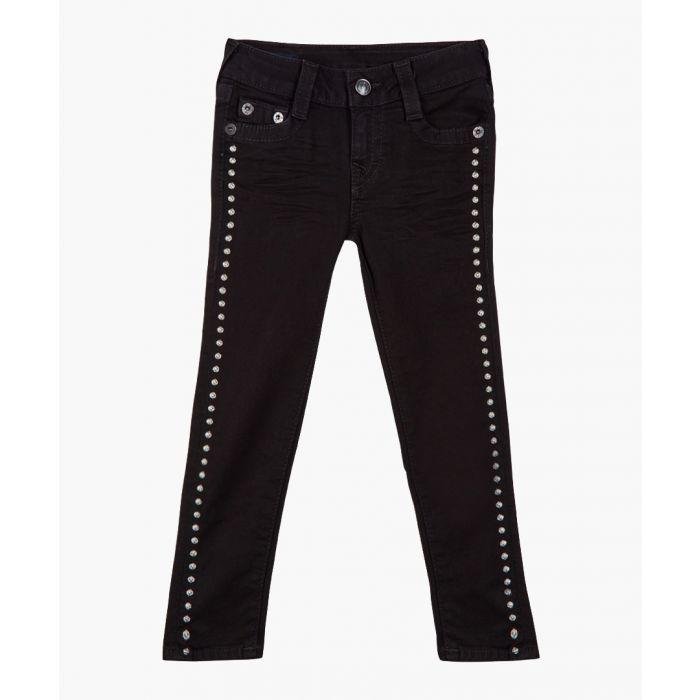 Image for Girls Casey black cotton blend jeans
