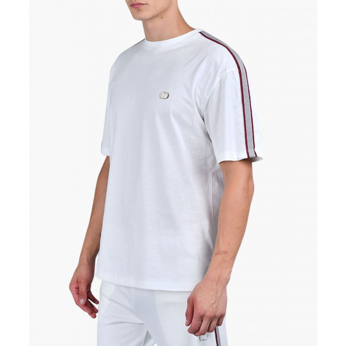 Image for Off white & burgundy pure cotton T-shirt