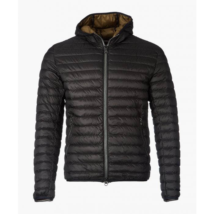 Image for Black down quilted jacket