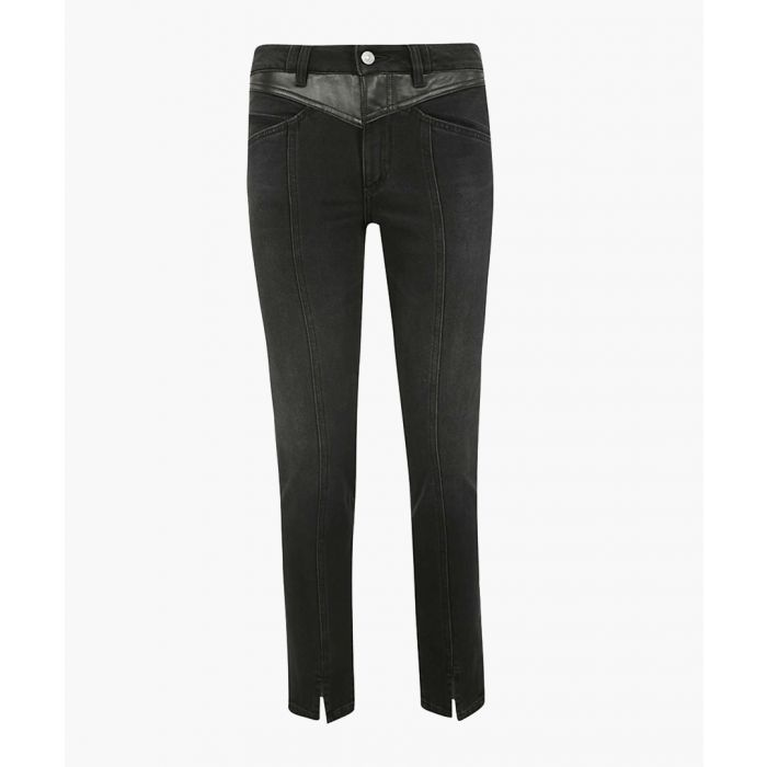 Image for black wash cotton slim jeans