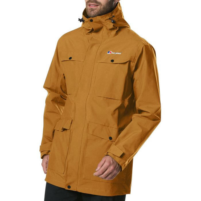 Image for Brown high-neck four pocket coat