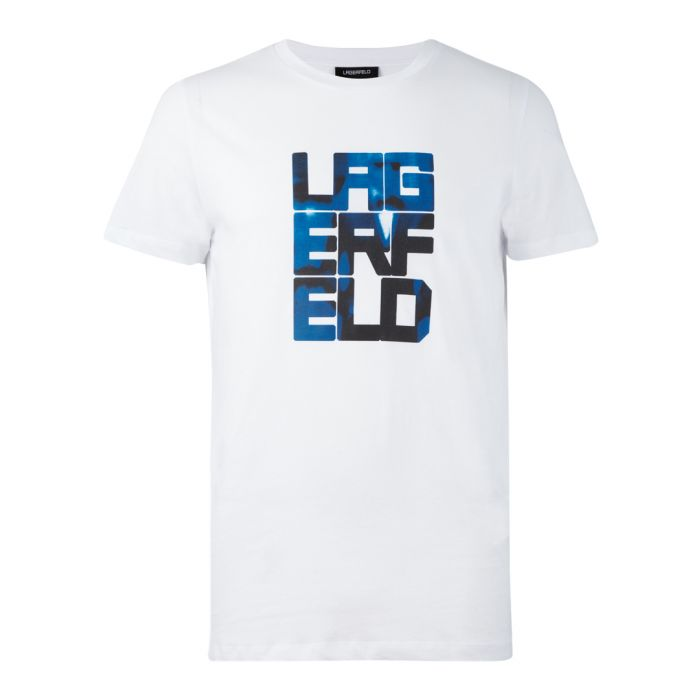 Image for White & blue cotton logo T-shirt