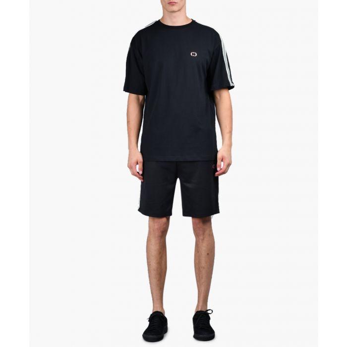 Image for Black & olive striped sleeve T-shirt
