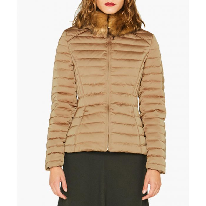 Image for Women's tan padded down jacket