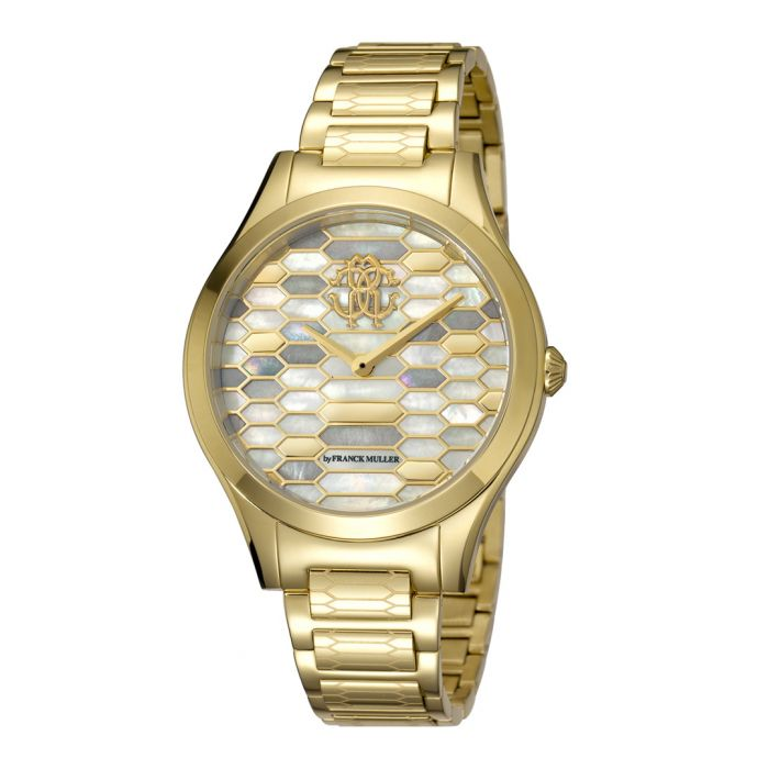 Image for Gold-tone stainless steel hive watch
