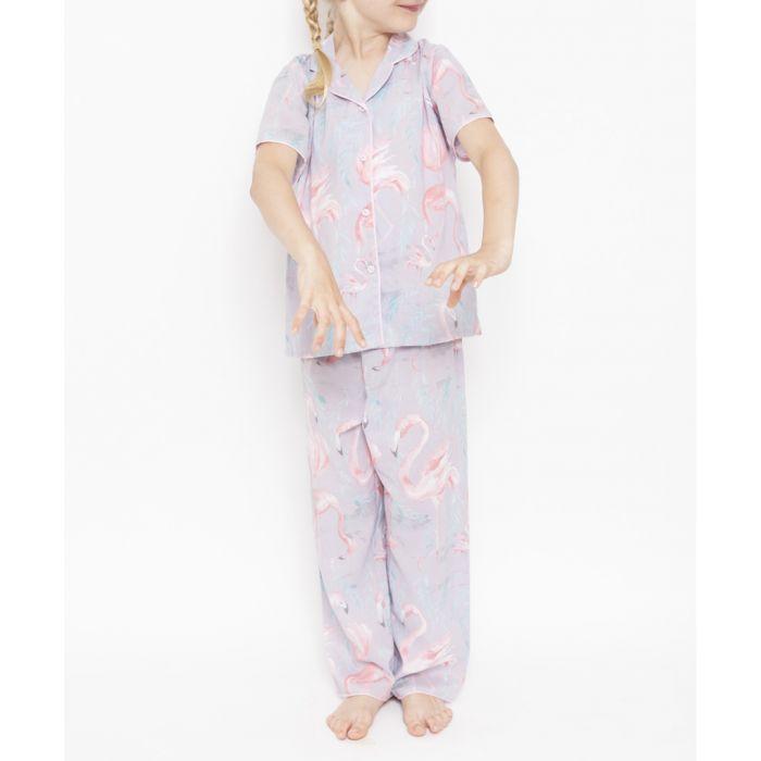 Image for Kids Zara grey flamingo cotton-blend pyjama set