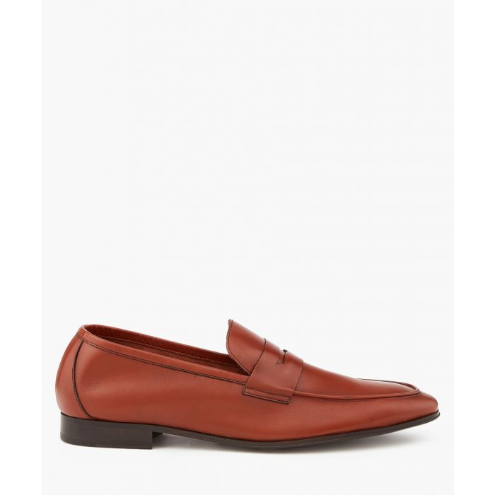 Image for Tan leather slip-ons