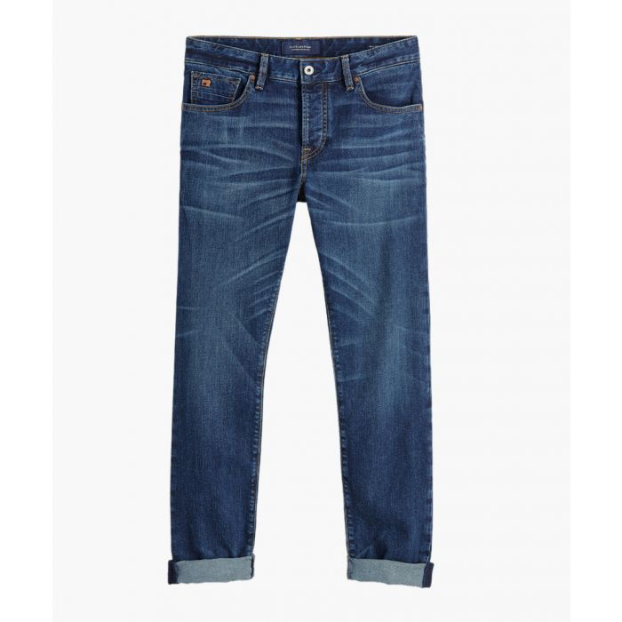 Image for Blauw post blue cotton jeans