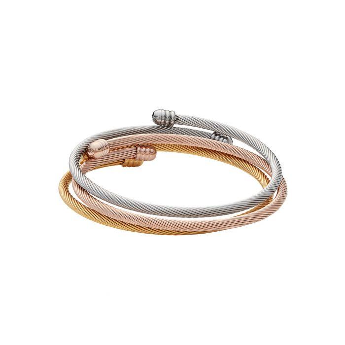Image for 18k gold, 18k rose gold and silver-plated steel bracelet