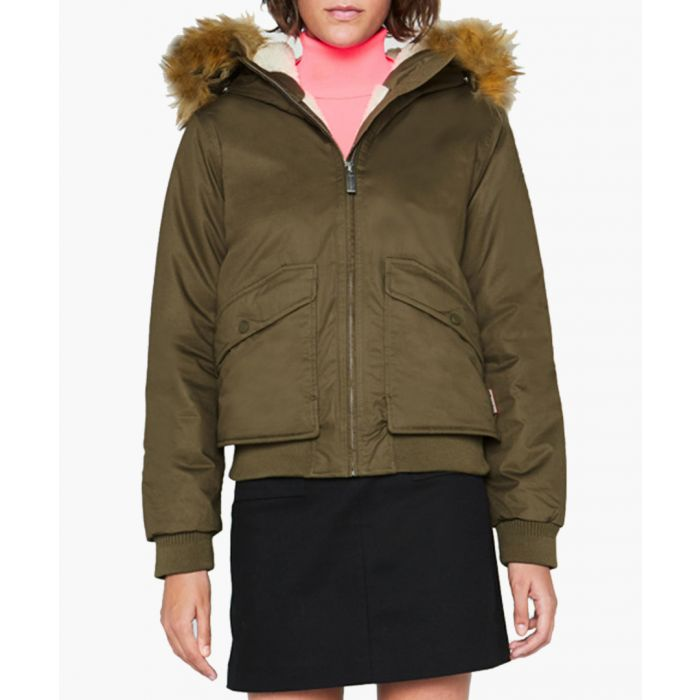 Image for Women's khaki pure cotton parka jacket