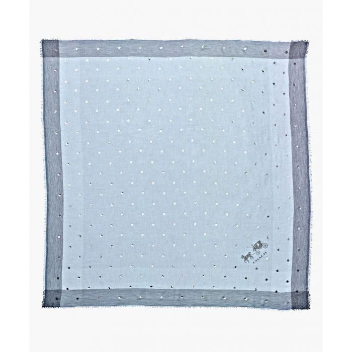 Image for One pale blue printed square scarf