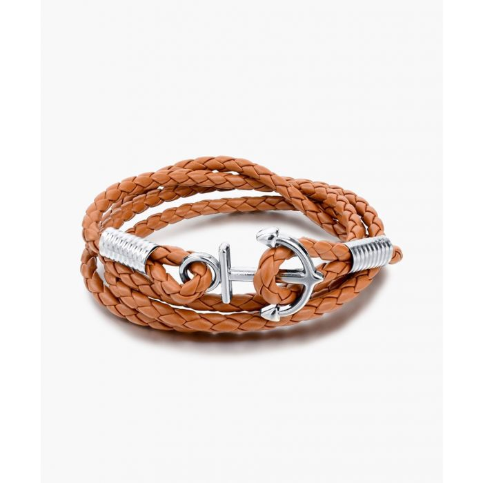 Image for Lewis tan anchor bracelet