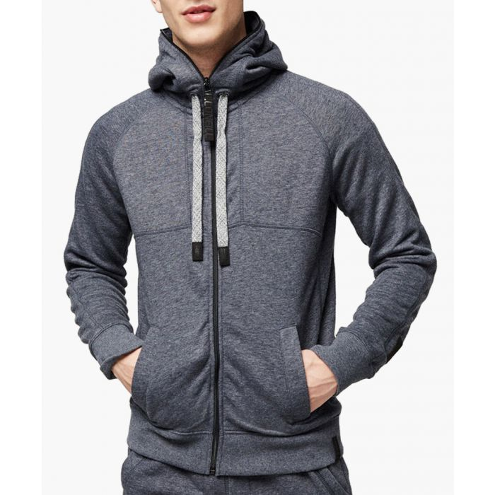 Image for Ink blue cotton blend hoodie