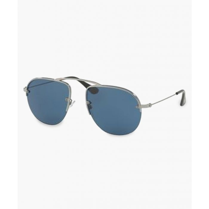 Image for Gunmetal and blue lens sunglasses