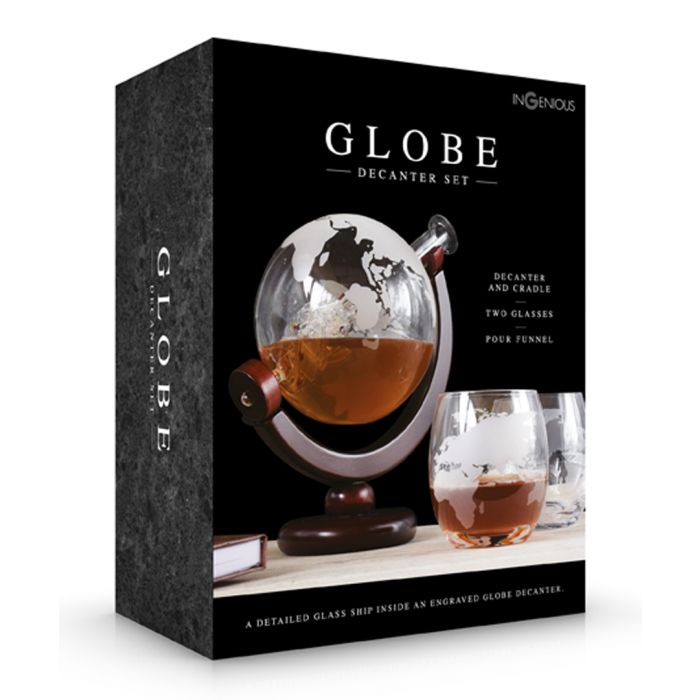 Image for Glasses & globe decanter set