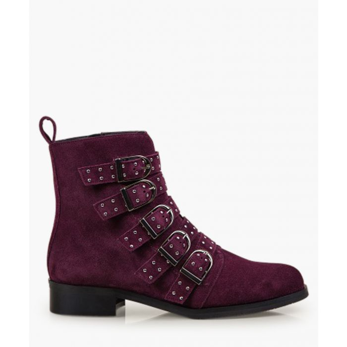 Image for Bronte Alice burgundy suede boots